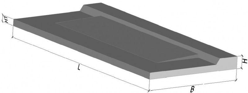 Балконная плита ПБК 33.12-5а