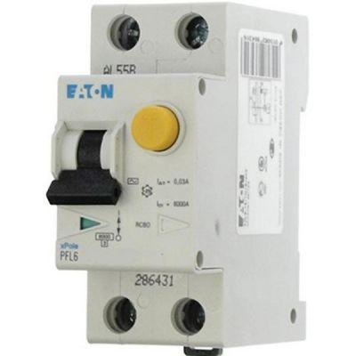 Eaton Дифференциальный автоматический выключатель PFL6-16/1N/C/0,03 (286467) цены