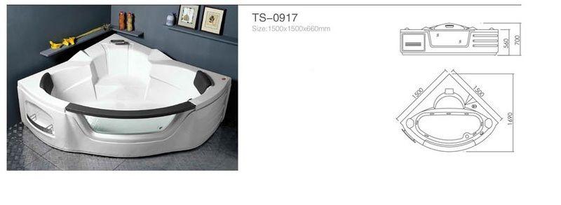 Акриловая ванна Appollo TS-0917 1500 x 1500 x 660