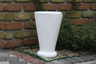 Бетонная ваза Классик (белый) цена