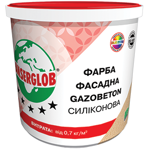 Anserglob Краска структурная силиконовая GAZOBETON 14кг. цена