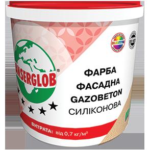 Anserglob Краска структурная силиконовая GAZOBETON 14кг.