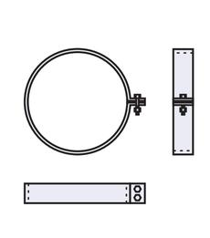 Скоба монтажная 0,9мм из оцинкованной стали (AISI 304) ф240