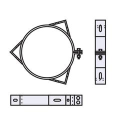 Хомут под растяжки 0,8 мм из нержавеющей стали (AISI 321) ф250
