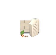 Клинкерный кирпич фасонный Ф2 Керамейя Жемчуг