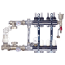 Коллектор в сборе (с насосом Wilo Star-RS 25/6-130) для подключения системы теплый пол FADO (SEN04) + FADO Шкаф коллекторный встроеный 480х625х130 (C11)
