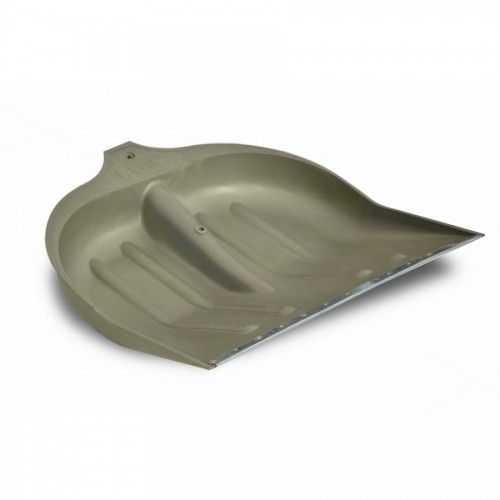 Лопата для снега пластиковая серая, с метллической планкой (70-885)