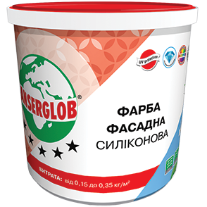 Anserglob Краска фасадная силиконовая 15кг. цена