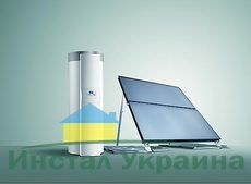 Сонячний колектор auroTHERM VFK 145 V (2шт) + бойлер auroSTOR VIH S 300 + auroMATIC 620/3