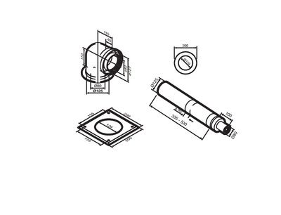 Buderus (конд.) AZB 918 Коаксиальный горизонтальний комплект, Ф 80/125 мм (7719003673) цены