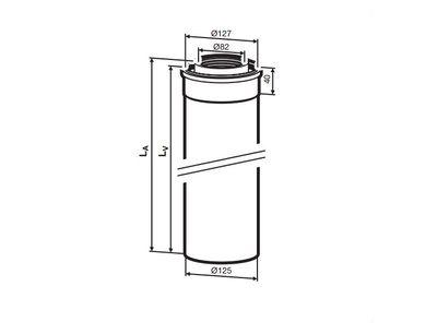Buderus (конд.) AZB 606/1 Коаксиальный удлинитель 2000 мм, Ф 80/125 мм (7719002765) цена