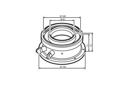 Buderus (конд.) AZB 931 / Адаптер для подключения коаксиальных дымоходов Ф 80/125 мм к котлам с подключением Ф 80/125 мм (7716780184) цена