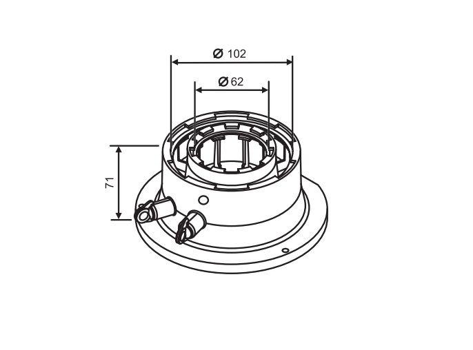 Buderus (конд.) Адаптер для подключения дымохода Ф 60/100 к котлам с подключениями Ф 80/125 (7719003381)