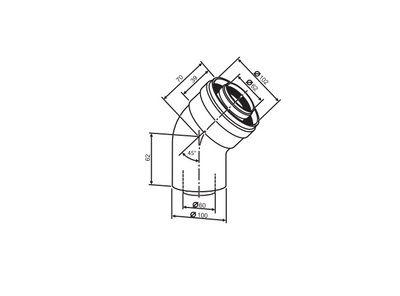 Buderus Коаксиальный отвод (2шт.) Ф 60/100 - 45° (7736995071) цены