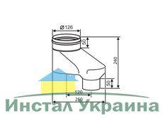 Buderus Адаптер вертикальный  для подключения раздельной системы дымоходов Ф 80/80 к коаксиальным дымоходам Ф 80/125 Buderus (7736995098)