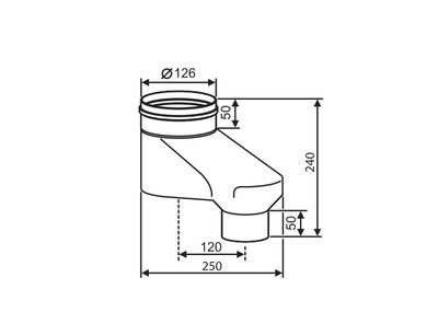 Buderus Адаптер вертикальный для подключения раздельной системы дымоходов Ф 80/80 к коаксиальным дымоходам Ф 80/125 Buderus (7736995098) цена