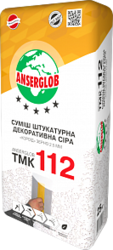 купить Anserglob ТМК-112 Декоративная штукатурка короед 3,5 мм серая
