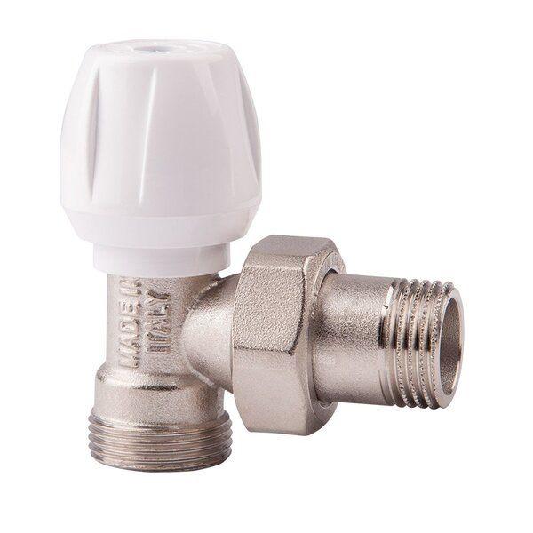 804 Ручной вентиль простой регулировки ICMA с американкой, угловой ВН 1/2 - 24х1,5