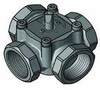 """купить 4-ходовой смесительный клапан Meibes Elomix ЕМ4-50-40 Ду50 (Kvs 40 м.куб./час), подключение 2 """"ВР"""