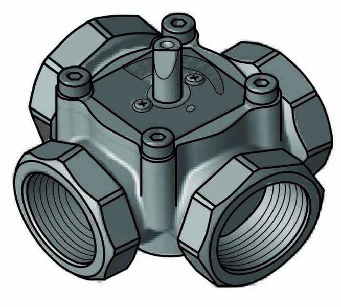 """4-ходовой смесительный клапан Meibes Elomix ЕМ4-20-4 Ду20 (Kvs 4 м.куб./час), подключение 3/4"""" ВР"""