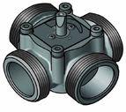 """купить 4-ходовой смесительный клапан Meibes Elomix ЕМ4-40Е-18 Ду40 (Kvs 18 м.куб./час), подключение 1 1/2 """"НР"""