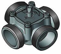 """4-ходовой смесительный клапан Meibes Elomix ЕМ4-40Е-18 Ду40 (Kvs 18 м.куб./час), подключение 1 1/2 """"НР"""