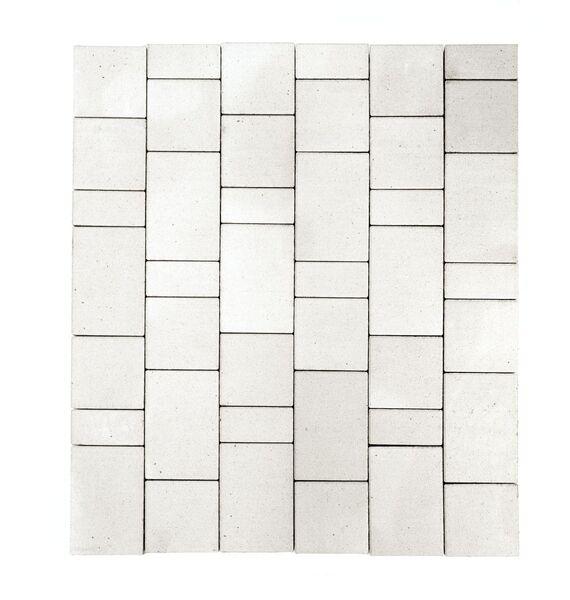 Тротуарная плитка Старый город (белый) (8 см)