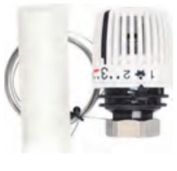 Термостатическая головка 320KH B с Встроенным датчиком диапазоном р-ки 6-26 С