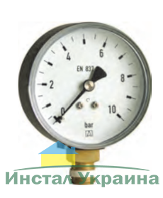 """Манометр тип RF, диаметр 50мм, 0-10 бара, соед. 1/4"""" рад., к.т. 2,5"""
