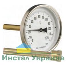 "Термометр Bith, корпус 63 мм, шток 45 мм, T 0…160°C, соед. 1/2"" акс., к.т. 2,0"
