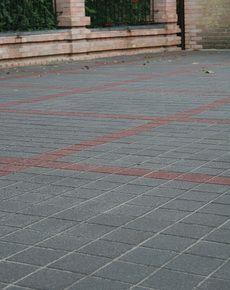 Тротуарная плитка Квадрат Антик 160х160 (серый) (9 см)