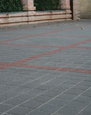Тротуарная плитка Квадрат Антик 160х160 (серый) (9 см) цена