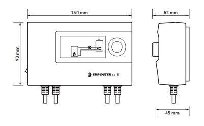 Euroster 11B Термоконтроллер управление насосом, система Антистоп, ЖК экран, 2 выносных датчика температуры. цены