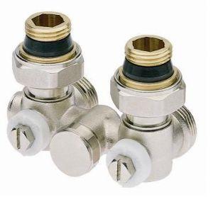 ICMA однотрубный сдвоенный вентиль 903 1/2`х3/4` угловой