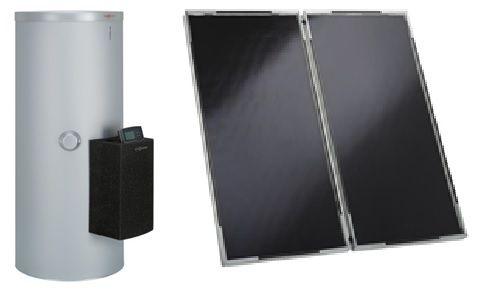 Сонячний колектор Vitosol 200-F с трехступенчатым насосом, модулем SM1 и бойлером Vitocell 100-B/-W тип CVBA (белый)