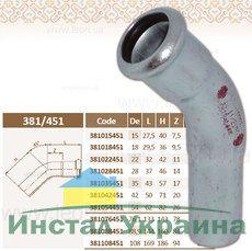 Колено 45' 108 STEEL ВН