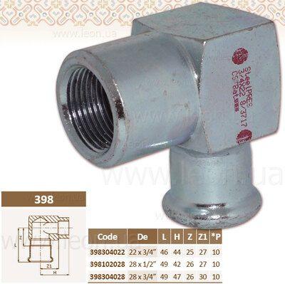 Колено коротке 90 1/2 ВР x28 STEEL цены