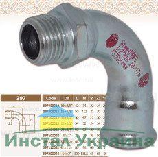Колено 90' 3/4 НР х22 STEEL