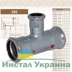 Тройник редукционный 54x35x54 STEEL
