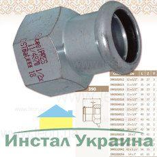 Муфта 3/8 ВР x15 STEEL
