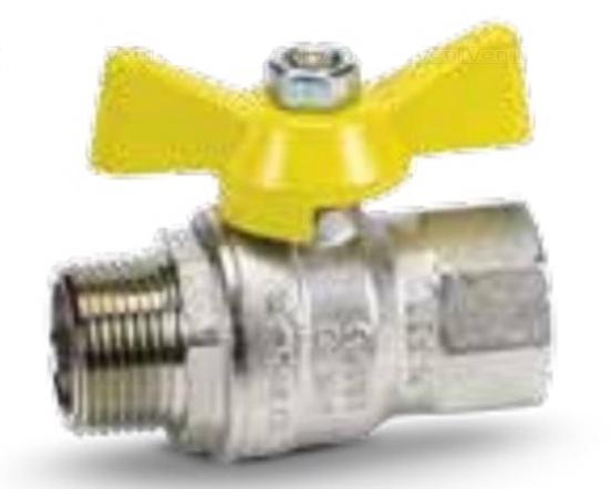 "79550006 Кран газовый шаровый MISSUORI GAS 3/4"" ВН ""бабочка"" BONOMI"