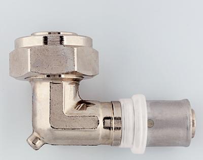 Пресс-переходник угловой с накидной гайкой и конусом Herz 16x2 G 3/4 цена