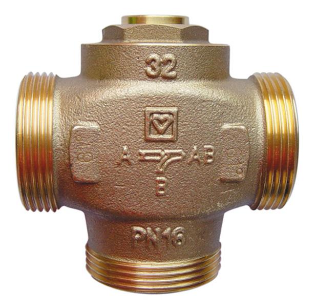 Тремосмесительный клапан для твердотопливного котла Herz Герц-Teplomix DN 32