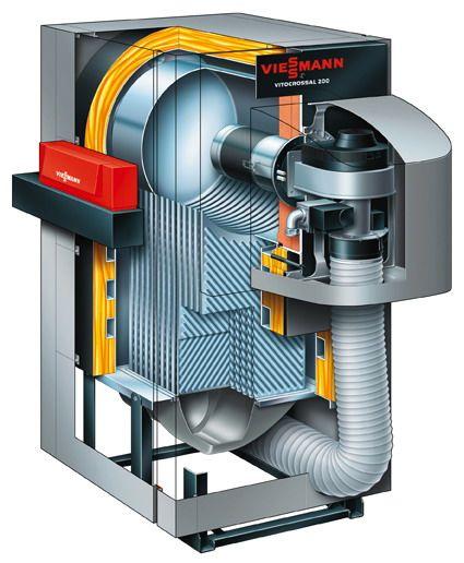 Газовый котел Viessmann Vitocrossal 200 628 кВт с Vitotronic 100 (из помещения)