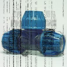 Тройник полиэтиленовый 90 DN 40х40х40