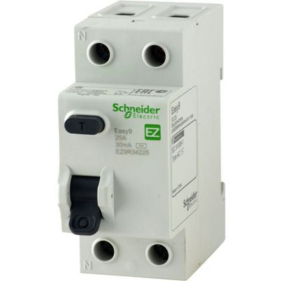 """Schneider electric Дифференциальный выключатель напряжения EZ9, 2Р; 0,03А; 25А; ТИП """"АС"""" (EZ9R34225) цена"""