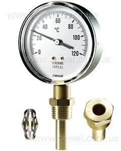 Cewal Термометр Д100 0/120°С 10см вертикальный