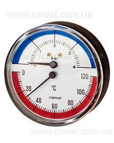 Cewal Термоманометр Д63 1/2 R 4 бар фронтальный