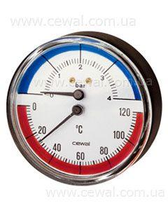 Cewal Термоманометр Д63 1/2 R 4 бар фронтальный цены