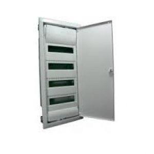 HAGER Щит встроеный VOLTA 4 ряда 48+8 модулей стальные двери без клемм IP30 (VU48UA)